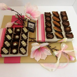 שוקולד ופרחים עיצובית